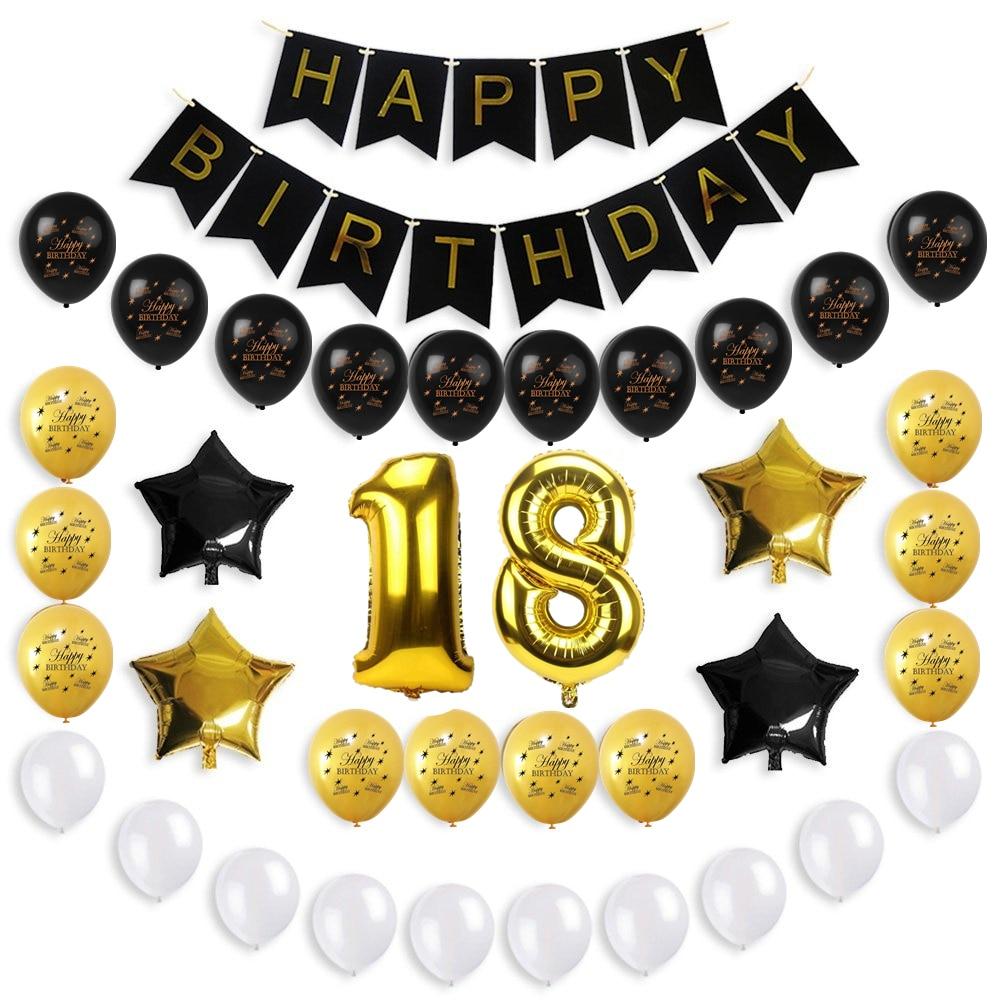 ZLJQ 1set Glitter Happy Birthday Bunting Banner Party Supplies Baby ...
