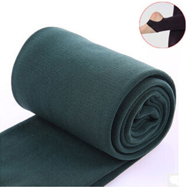 2020 Autumn winter woman thick warm leggings candy color brushed charcoal Stretch Fleece Pants Trample Feet Leggings 30