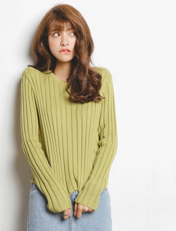Hilo delgado pullovers de punto camisa  Otoño invierno estilo coreano de la mane