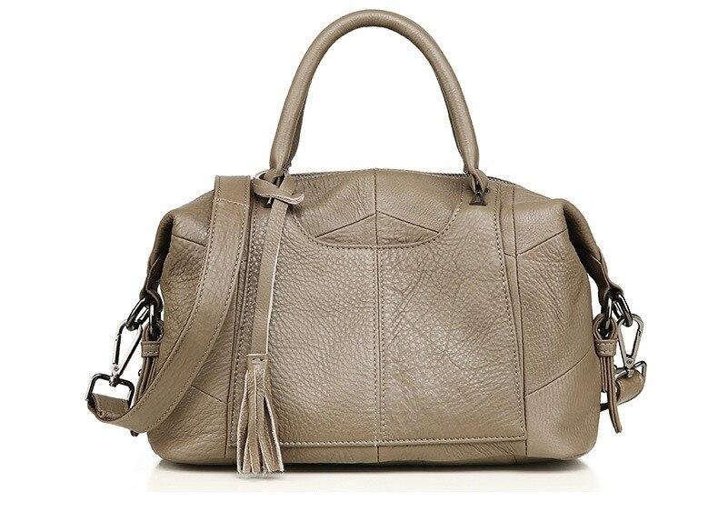 MJ Women Genuine Leather Handbag Female Real Cow Leather Tote Bag Ladies Large Capacity Shoulder Bag Crossbody Bags for Women (17)