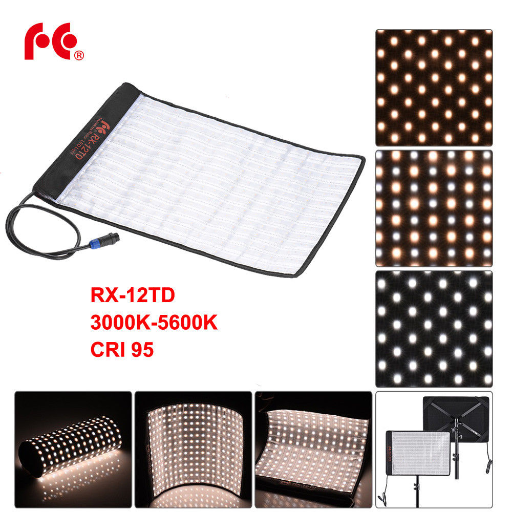 FalconEyes LED Flexible Panel RX-12TD Video light Dimmable 3000K - 5600K CRI95 280pcs Rollable Cloth Light with LCD Touch ScreenFalconEyes LED Flexible Panel RX-12TD Video light Dimmable 3000K - 5600K CRI95 280pcs Rollable Cloth Light with LCD Touch Screen