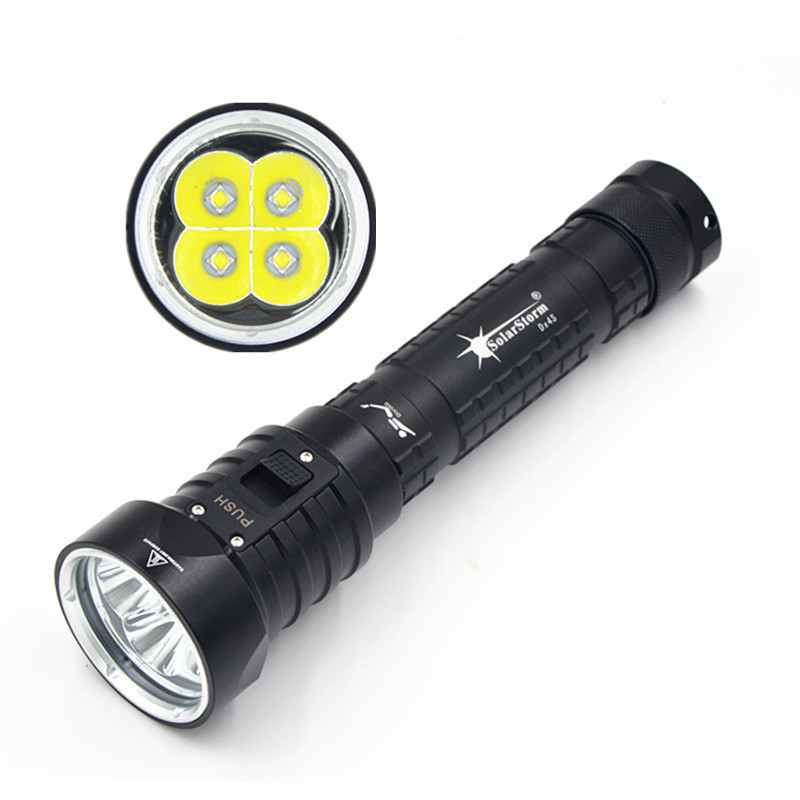 New Solarstorm DX4S (upgraded from DX4) XM-L2 U2 LED diving flashlight torch brightness waterproof 100m white light led torch водонагреватель polaris rz10
