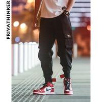 Privathinker Cargo Pants Men 2018 Mens Streetwear Joogers Pants Black Sweatpant Male Hiphop Autumn Pockets Trousers Overalls