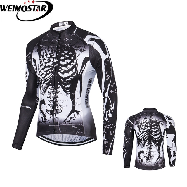 7bbb35f06 Weimostar black cycling jersey Autumn bicycle long sleeve pro team thin  Racing clothing mtb road bike clothes full zipper
