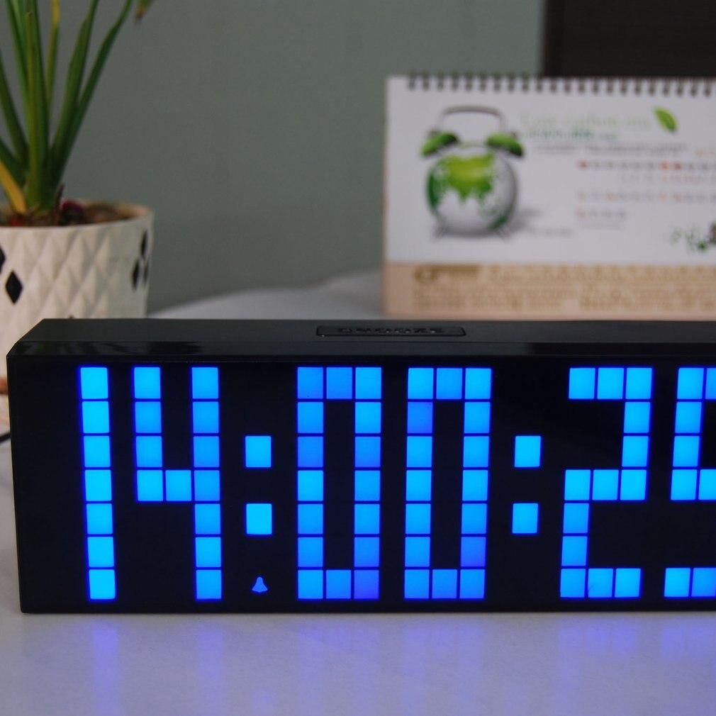 Réveil Led horloge de bureau électronique numérique affichage horloge de Table de température réveil électronique