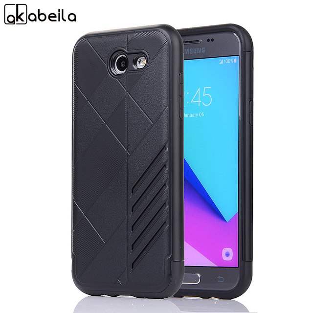 AKABEILA Cases For Samsung Galaxy J3 2017 J330F/DS J3 Pro 2017 5.0 inch US Version Phone Case PC TPU Armor Hybrid Cover