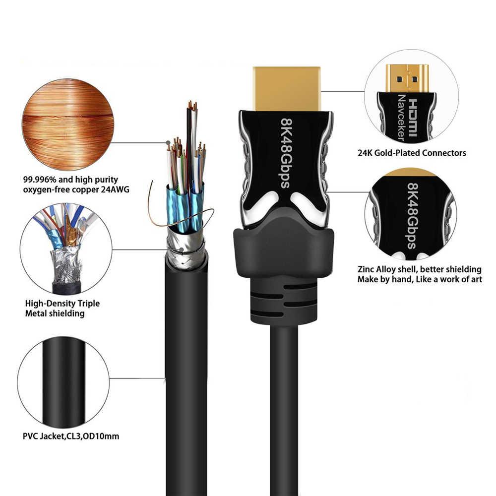 Новейший 48 Гбит/с 8K HDMI 2,1 кабель BT2020 8K @ 60Hz 2,1 HDMI кабели 4K Суперскоростной плоский кабель HDMI 2,1 UHD HDMI кабель 2,1 HDR 8K кабель для PS4 LG tv
