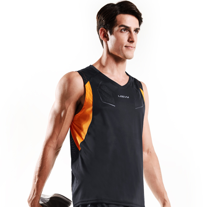 f234d9fb097de5 New arrival Fitness Mens sports Sleeveless Shirt running Vests quick dry  Tops Tank Top Men Bodybuilding Clothing L363Y-in Running Vests from Sports  ...