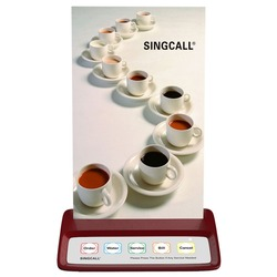 SINGCALL wireless calling system restaurant pager, waiter call button, red  pager with 5 keys to call for entertainment places