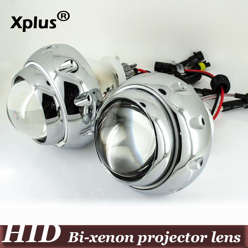 3 inch Bi-Xenon HID Projector Lens H1 H7 H4 H13 9007 9005 9006 White Yellow Blue Red Green Double CCFL Angle Eye royalin bi xenon projector lens h1 for mc r double angel eyes ccfl halo rings white red blue w led demon evil eyes h4 h7 bulbs