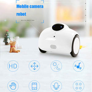 Camera Robot Built-In-Wifi for IOS Android Speaker Microphone Support Remote-Intercom