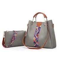 Moda yüksek kaliteli PU deri çanta satchel çanta renk geometrik desen şerit dekorasyon.