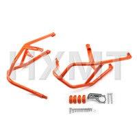 For KTM 1190 1290 Adventure R 2013 2014 2015 2016 2017 Orange Engine Bumper Upper Guard Crash Bar Protector Steel Frame Guard