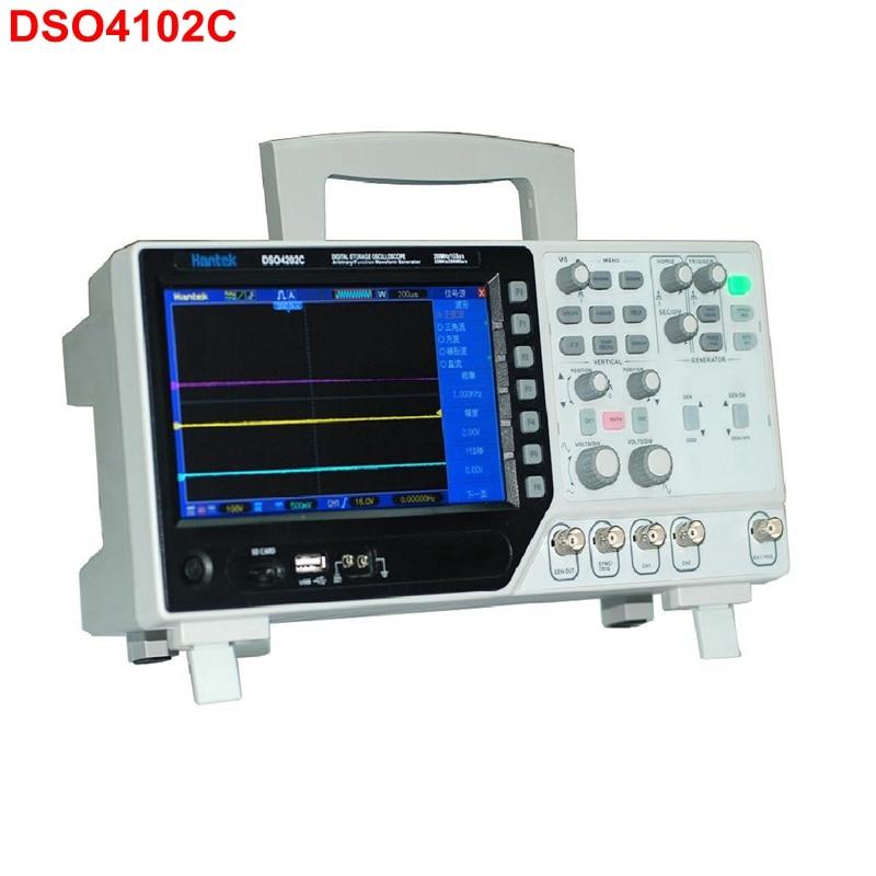 Hantek DSO4102C Digital LCD Oscilloscope USB 100MHz 2 CH 1GSa/s Sample Rate 40K Record Length dso 150 2 0 lcd usb dual channel oscilloscope
