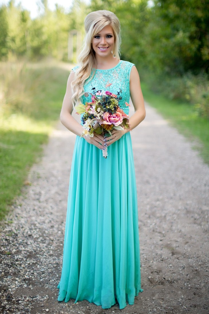Mint Green 2019 Cheap   Bridesmaid     Dresses   Under 50 A-line Chiffon Lace Beaded Long Wedding Party   Dresses   For Women