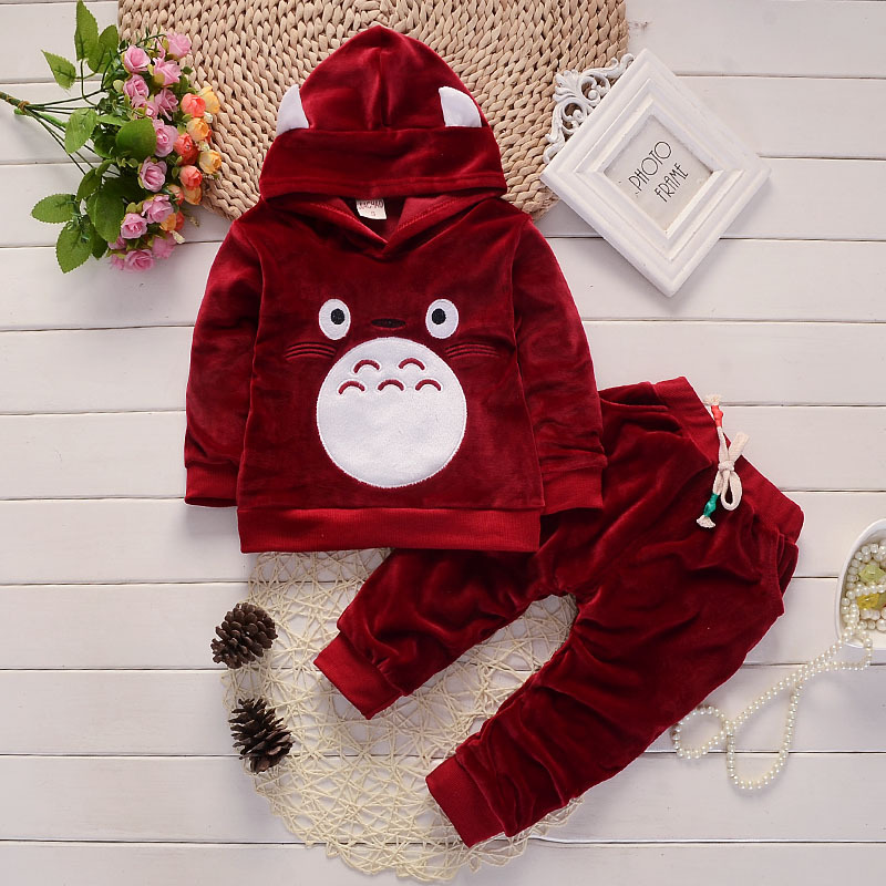 Baby Boy Clothes Spring Autumn elvet Long Sleeved Hooded Hoodies + Pants Childrens Outfits Kids Bebes Jogging Suits Tracksuits
