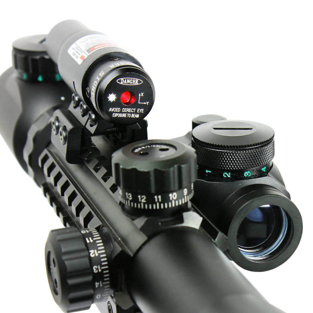 New C 3-9X40EG Illuminated Hunting Red/Green Laser Riflescope with Holographic Dot Sight Combo Airsoft Gun Weapon Sight Airsoft 3 9x40 illuminated red green laser riflescope w holographic dot sight airsoft weapon sight riflescopes for airsoft gun hunting