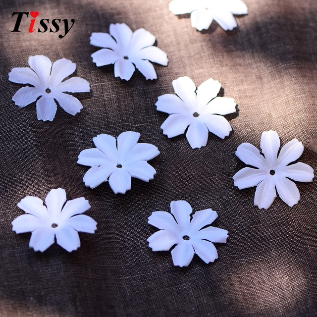 100pcs White Artificial Petals Simulation Cherry Blossom Home Wedding Party Decoration Diy Box Sbooking Flowers