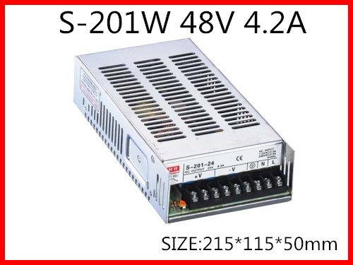 201W 48V 4.2A Single Output Switching power supply for LED Strip light AC-DC S-201-48 201w led switching power supply 85 265ac input 40a 16 5a 8 3a 4 2a for led strip light power suply 5v 12v output