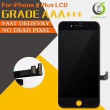 10 個グレード aaa + + + iphone 8 プラス液晶交換タッチスクリーンデジタイザーアセンブリ表示デッドピクセル送料無料