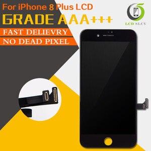 Image 1 - 10PCS Grade AAA + + + LCD Für iPhone 8 Plus LCD Ersatz Touchscreen Digitizer Montage Display Keine Tote Pixel freies verschiffen