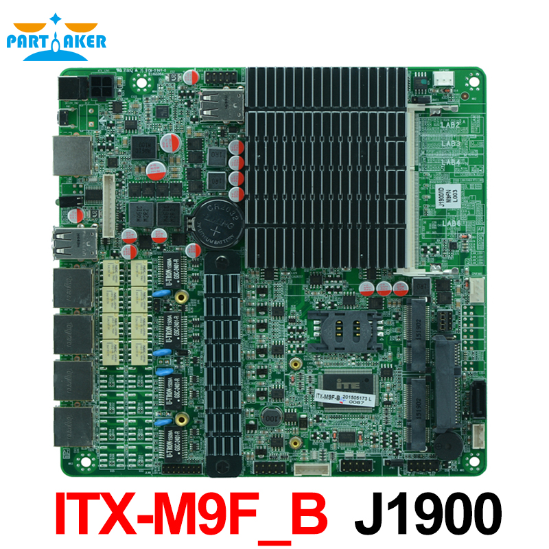 Firewall industrial embedded motherboard ITX-M9F_B Quad core intel baytrail J1900 network Server motherboard with Bypass vectra motherboard industrial rocky 4786ev