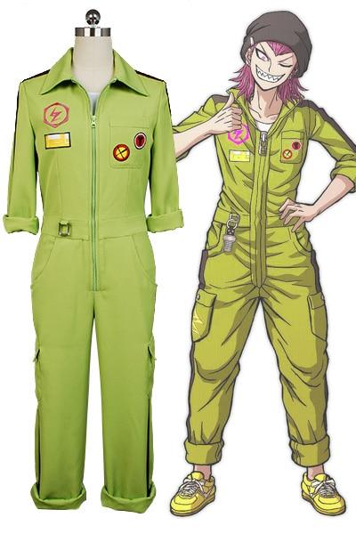 Супер DanganRonpa Kazuichi Souda карнавальный костюм полный комплект наряд для мужчин и женщин комбинезон на заказ