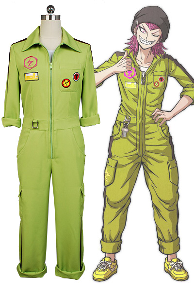 Super <font><b>DanganRonpa</b></font> Kazuichi Souda <font><b>Cosplay</b></font> Costume Full Set Outfit Men Women Jumpsuit Custom image