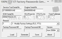 100 2017 ET FACTORY PASSWORDS GENERATOR V0 2 9 With Free DHL For