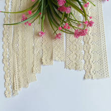 2 Yard/lot 13mm to 55mm High quality Cotton Lace Edge Theory Sweater Side Skirt Full Curtain Sofa Diy