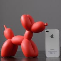 Modern minimalist vibrating simulation balloon dog decoration resin dog TV cabinet decoration home furnishings