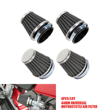 4pcs/lot 44mm Air Filters Tapered Chrome Pod Clean Mushroom Head Cleaner for Gy6 150cc ATV Quad 4 Wheeler Buggy Scooter Moped
