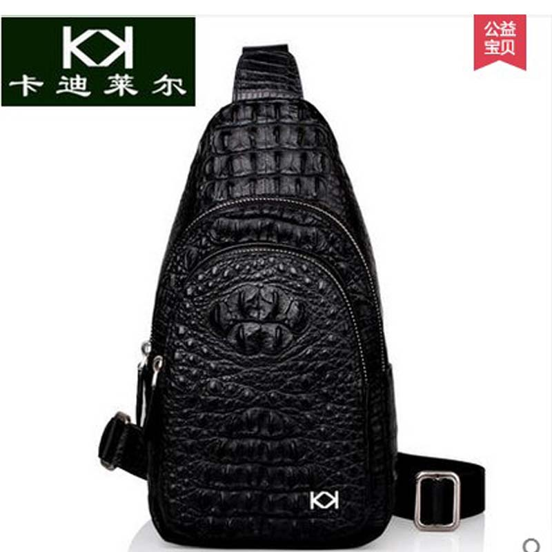 KADILER 2017 new hot free shipping Thai real crocodile chest bag  male leisure single shoulder bag inclined bag  men bag travel торцовочная пила энкор корвет 5р