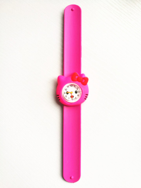 Wholesale 10pcs/lot Randon Candy Colors Hello Kitty Slap Watch Girls Children's Cartoon Watches kids Silicone Rubber Wrist Watch