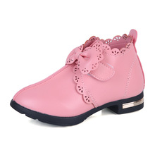 Детская обувь для девочек модная обувь на весну и осеннее детское платье принцессы обувь повседневные кроссовки с бантом кожаные туфли
