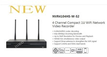 Free Shipping DAHUA WIFI NVR 4 Channel Compact 1U WiFi Network Video Recorder H.264+/H.264 5Mp without Logo NVR4104HS-W-S2