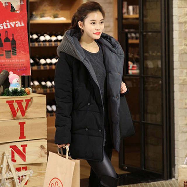 0f206d7f7b8 placeholder Oversized Coats Casual Parkas Winter Jacket Women Hooded Wadded  Padded Jacket Female Maxi Coat Loose Plus