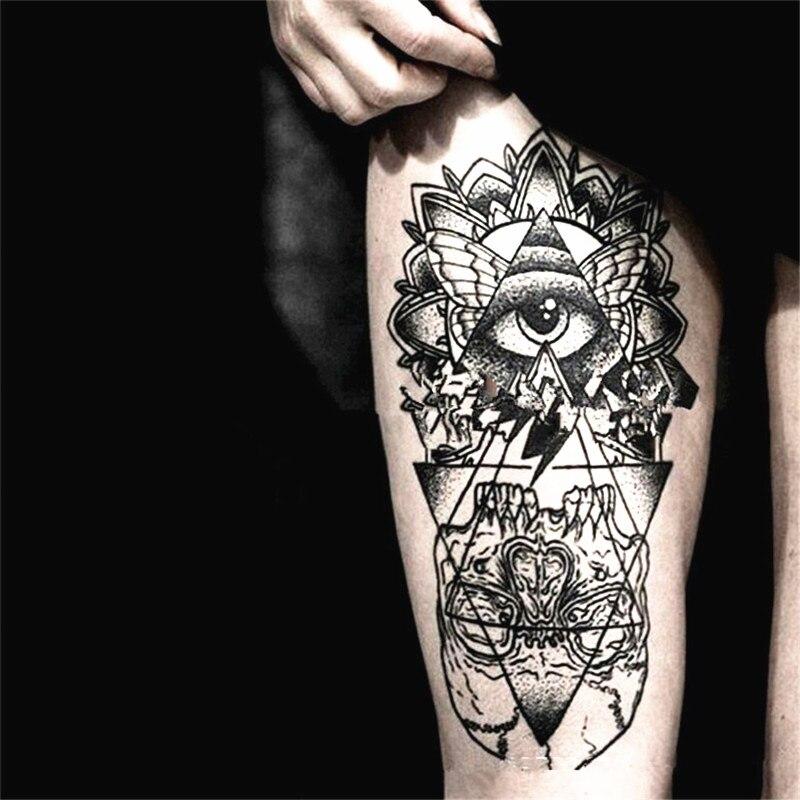 2pcs henna tattoo sticker temporary tattoo waterproof fake for Fake body tattoos