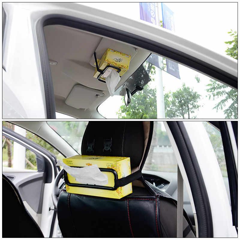 Otomobil iç aksesuarları araba güneşlik sandalye arka doku kutusu kapağı araba asılı doku kutu tutucu araba süsler araç