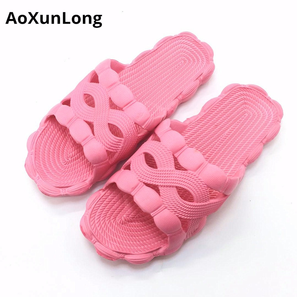 Summer Women Slippers Flat Bathroom Home Slippers Women Beach Casual Sandals Red Size 35/40 Women Slippers Flip Flops Woman 9 8 new pattern brand quality leisure women sandals slippers summer fashion shoes beach flip flops women footwear size 36 40 wa0182