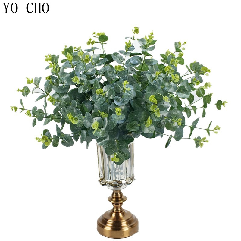 7 Fork Fern Green Grass Eucalyptus Leaf Plastic Outdoor ... on Wall Sconces For Greenery Decoration id=13468