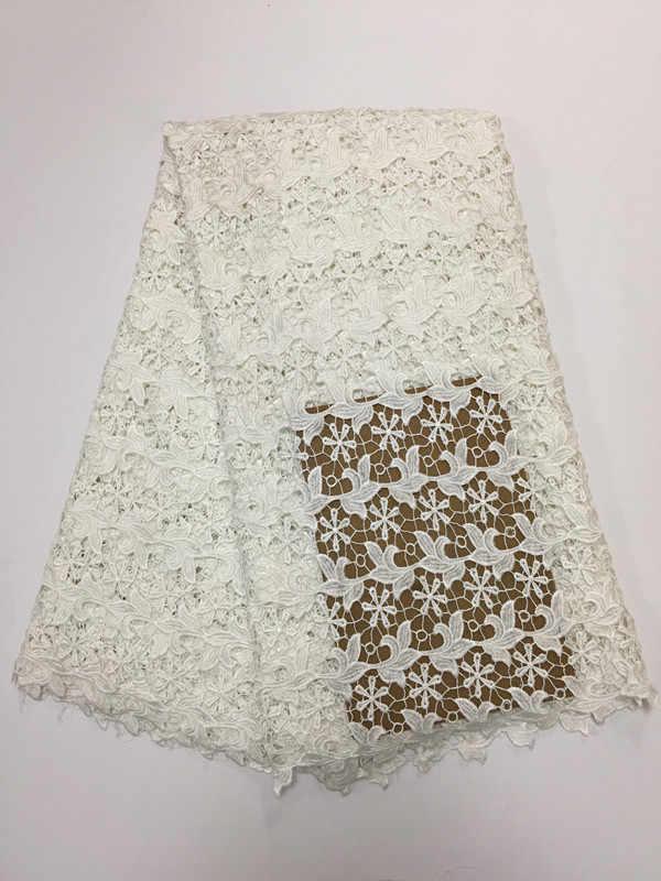 חמה למכירה לבנה כבל אפריקה מסיס במי תחרה גיפור בד תחרה עבור שמלת תפירת גן באיכות גבוהה בד תחרה weddingdress