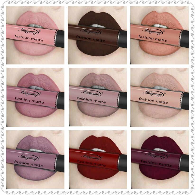 18 цветов жидкая помада без матового макияжа для губ глянцевый карандаш для губ водостойкая стойкая губная помада