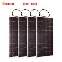 Dokio гибкие Панели Солнечные 100 Вт монокристаллический солнечных батарей 200 Вт 400 Вт 600 Вт 800 Вт 1000 Вт Панели солнечные комплект для RV/лодка/Глав