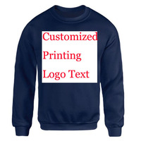 Custom Logo Sweatshirt Women Men Embroidery Print Customized Made Pullover Company Factory Office Logo Ads Customer