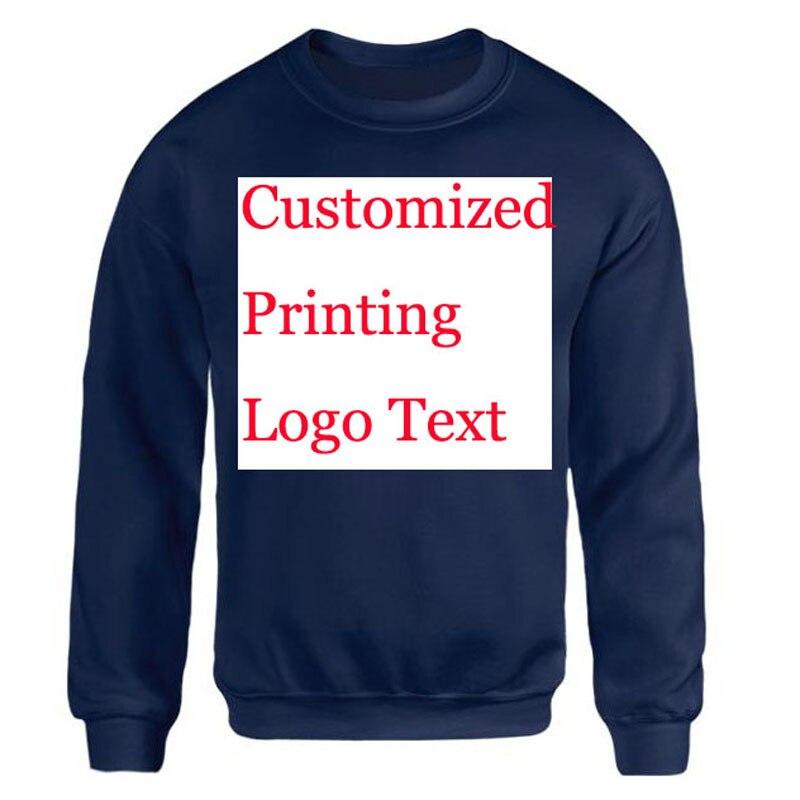 Logo personnalisé Sweatshirt Femmes Hommes Personnalisé Imprimé - Vêtements pour hommes - Photo 1