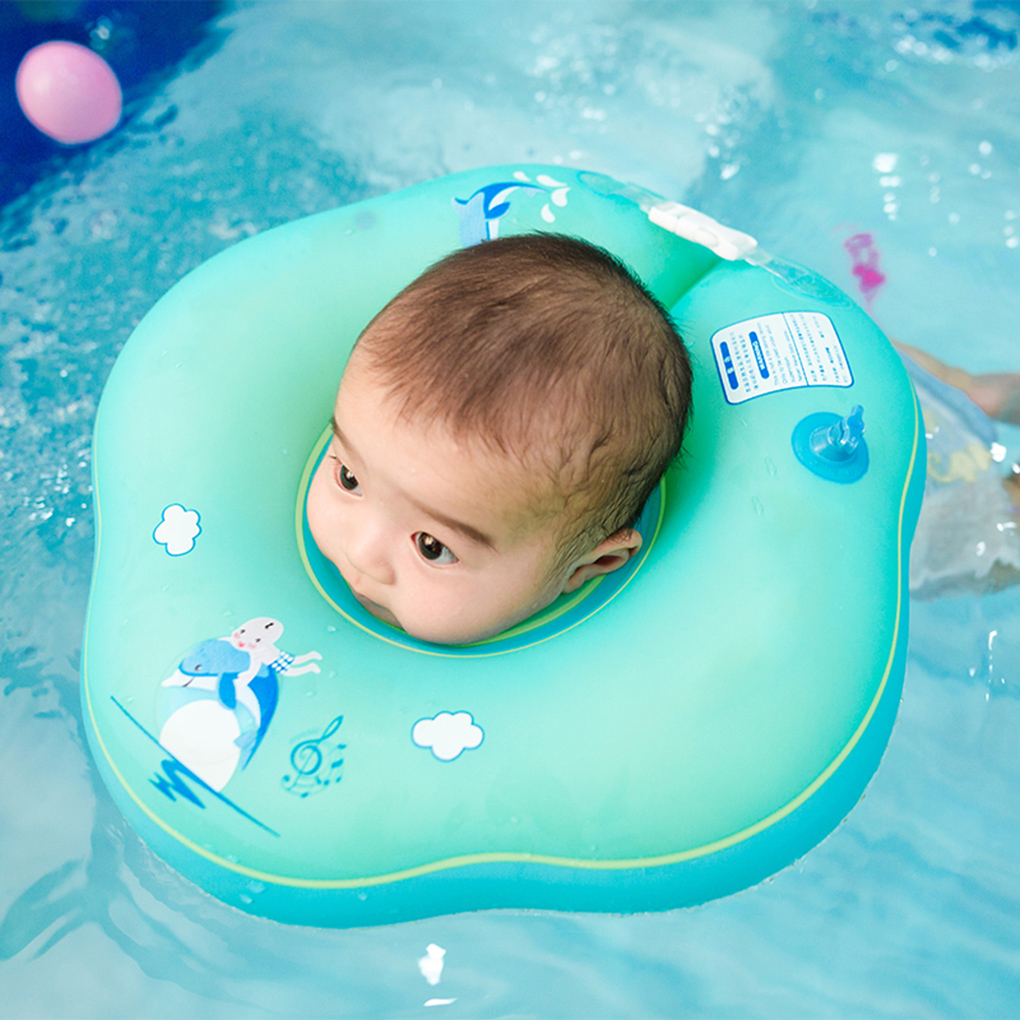 Plum Blossom-shape Newborn Neck Tube Inflatable Baby Swimming Ring Starter Swim Pool Circle Children Float Trainer