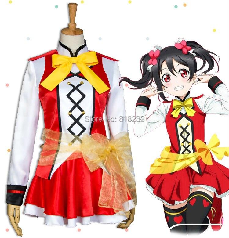 Lovelive! Love Live Yazawa Nico Dance Dress Uniform Outfit Cosplay Costumes refreshing black medium with bunches love live yazawa nico uniform style cosplay wig