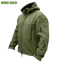 Флисовая флисовая куртка Военная Тактическая Мужская Polartec Тепловая полярная верхняя одежда с капюшоном пальто армейская одежда