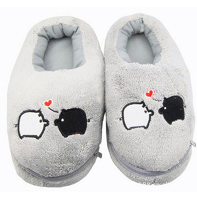 2016 New Safe and Reliable Plush USB Foot Warmer Shoes Soft Electric Heating Slipper Cute Rabbits